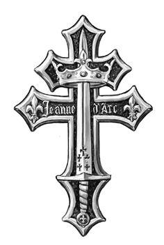 Joan of Arc Cross by dashinvaine.deviantart.com on @deviantART