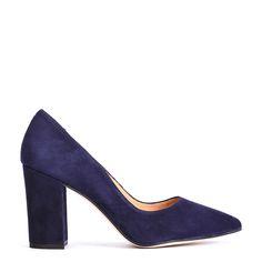 #zapatos #salón #tacón de la nueva colección #AW de #pedromiralles en color #azul #blue #shoponline
