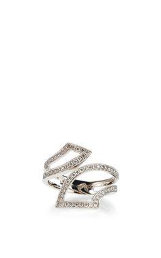 Taylor Beth Ring In 14K White Gold by Dana Rebecca Designs for Preorder on Moda Operandi