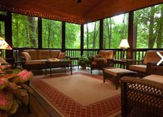 Best Screened in Porch Patio & Deck Enclosures Ideas & Pictures - Model Home Interior Design Screened Porch Decorating, Screened Porch Designs, Screened In Porch, Screened Porch Furniture, Back Porch Designs, Outdoor Rooms, Outdoor Living, Outdoor Decor, Outdoor Ideas