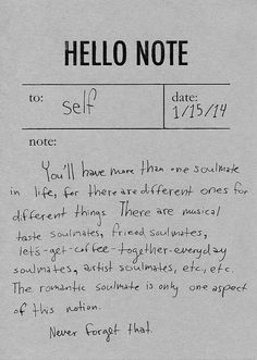 note to self --
