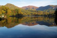 Lake Lure NC about 1.5 hours outside of charlotte; lake scene from dirty dancing (!)