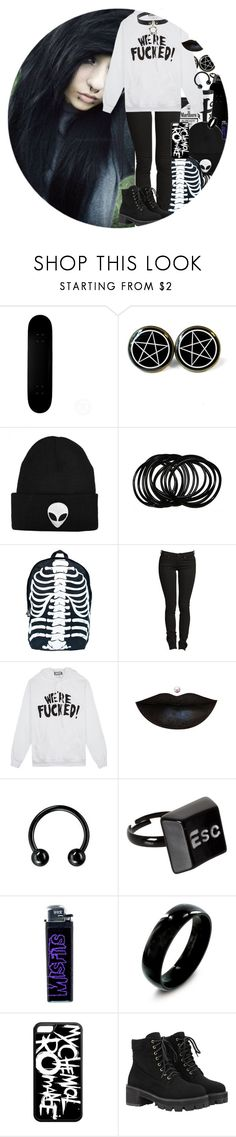 """""""WE'RE FUCCKED"""" by chemicalfallout249 ❤ liked on Polyvore featuring Comeco, United Couture, ASOS and WithChic"""