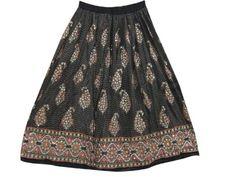 Amazon.com: Gypsy Hippy Skirt Lehenga Print Full Ankle Length Boho Sequin Long Skirt: Clothing