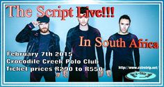 The Script concert kicking off in January: transport, taxi and shuttle services to Crocodile creek Polo club contact us for a quote: operations@astrotrip.net / +27(0)117045125 / +27(0)798253508 / website: http://www.astrotrip.net/the-script/ #thescript #music #pop #rocknroll #band #bestconcertofmylife #southafrica #joburg #jnb #entertainment #concert #places #events #nowplaying #np