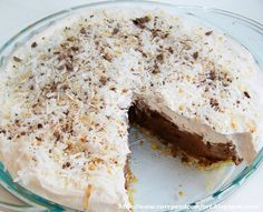 Curry and Comfort: Easy Chocolate Coconut Cream Pie- No Bake Version