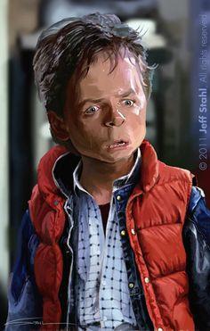 Michael J. Fox (caricature by Jeff Stahl) Funny Caricatures, Celebrity Caricatures, Sketch Manga, Michael J Fox, Caricature Drawing, Funny Drawings, Wow Art, Celebs, Celebrities