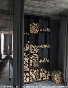 Rangement design pour bûches de bois