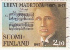 Postage stamp depicting Finnish composer Leevi Madetoja, 1987 Important People, Postage Stamps, Composers, Musicians, Portraits, Country, Projects, Travel, Ideas