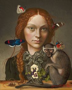 """Ukrainian-born Canadian painter* Yanina (Yana) Movchan was born in Kiev. Yana's sublime mastery of the technique and structure of Renaissance painting* combines with the instinctive symbolism* of """"magical realism"""" to create a personal neo-realist idiom."""