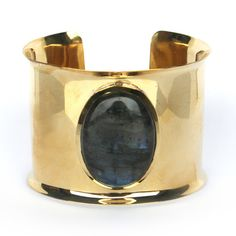 Vezoora  Cuff -  Labradorite Polished brass cuff with smooth Gemstonesgemstones shape , size , color may vary from image as we use only natural gemstones. These are handcrafted pieces so every piece will be different from others