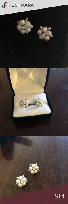Pearl and Diamond Style Stud Earrings Beautiful stud earrings simple but elegant for daily wear, work, or special events! These earrings have only been worn twice and are in like new condition. Macy's Jewelry Earrings