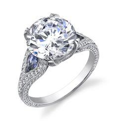 @C Gonshor sapphire & diamond ring