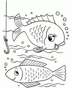 Balık boyama sayfası, Fish coloring page, Página para colorear de peces, Рыбная раскраска, 魚著色頁.