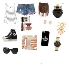 """""""We're cool for the summer!!☀️☀️☀️☀️"""" by amnafrance on Polyvore featuring RVCA, Converse, Glamorous, Charlotte Tilbury, Aéropostale, Casetify, Chanel, Kenneth Jay Lane, Accessorize and Marc by Marc Jacobs"""