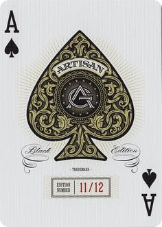 The Ace of Spades from Artisan Playing Cards