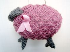 Breast Cancer Awareness Knitted #Pink Sheep. $20.00, via Etsy.