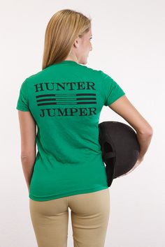Hunter Jumper women's tee. $25.00..where were these in the 80's?? I woulda had one in pink!!