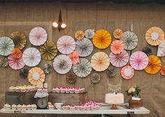 mesa de doces estilo rústico