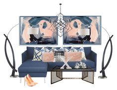 """""""Navy, Nude and Fornesetti..."""" by kimberlyd-2 ❤ liked on Polyvore featuring interior, interiors, interior design, home, home decor, interior decorating, Hyde, Dot & Bo, NOVA and Kelly Wearstler"""