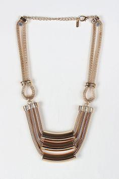 Tube Chain Chunky Geometric Necklace
