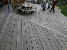 vitex (vasa) decking - weathered for two years