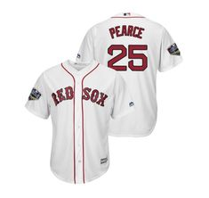 b460179f4 Men's 2018 World Series Boston Red Sox White #25 Steve Pearce Jersey