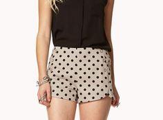 Polka Dot Mailot Shorts   20 Chic Shorts