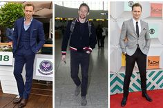 Tom Hiddleston's clean style is hard to miss. He knows the benefits of KISS (keep it simple, sweetheart) often opting for slim fits in neutral colors. He knows how to add just enough fun to an outfit to keep things interesting, whether it be a playful pocket square or a bright red stripe on a black bomber.
