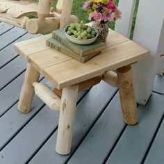 Contoured Comfort Log End Table