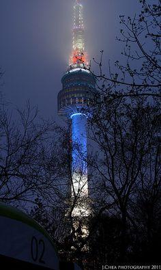 Seoul tower so beautiful in the night!!!!!!!!!!!!!!!!!