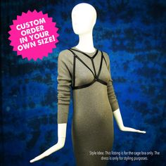 Plus size lingerie cage bra bralette by StyleWanderlustUSA on Etsy