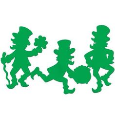 Beistle 33019 Packaged Leprechaun Silhouettes, by Beistle 33019 Packaged Leprechaun Silhouettes. 3 per package. Perfect for decorating anywhere! These leprechauns are a great way to help celebrate St. Patty's Day this year. St Patrick's Day Outfit, Outfit Of The Day, St Pattys, St Patricks Day, Saint Patricks, St Patrick's Day Decorations, St Paddys Day, Luck Of The Irish, Illustrations