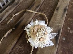 Rustic Country Chic Wrist Corsage / Burlap and by DaisyDazeDesign