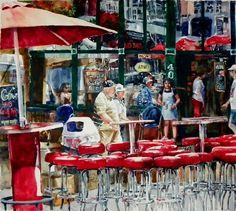 Outdoor Cafe Scene - Terrece Beesley