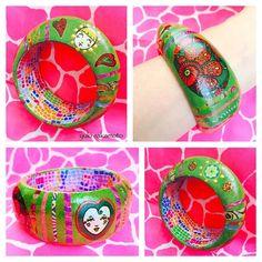 いいね!77件、コメント11件 ― さかもとゆき yuki sakamotoさん(@yuki_decopatcher)のInstagramアカウント: 「#decopatch #bangle #bracelet 🍀I made this.💕Decopatch is a decorative fab and papercraft. #デコパッチ…」