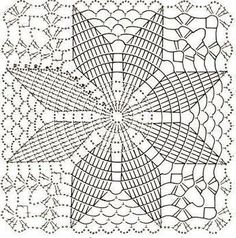 Home Decor Crochet Patterns Part 172 - Beautiful Crochet Patterns and Knitting Patterns Filet Crochet, Crochet Doily Diagram, Granny Square Crochet Pattern, Crochet Stitches Patterns, Crochet Chart, Crochet Squares, Thread Crochet, Knitting Patterns, Free Knitting