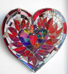 Mosaic Heart By Catherine Van Giap of Freshwater Mosaics