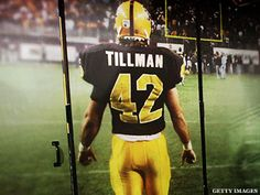 The bronze statue of Pat Tillman at Arizona State University is iconic: Hair mid-flow, helmet mid-pump, mouth mid-yell. That it replicates an actual i...