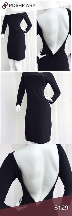 Black open back dress Black open back dress mittmi Dresses Midi