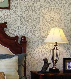 Cutting Edge Stencils - Anna Damask Stencil   www.cuttingedgestencils.com