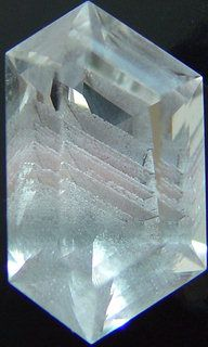 Phantom Quartz inclusions, Madagascar mineral, gemstone information data