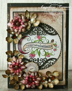 Angelica Turner as Bellisima Vida for Heartfelt Creations with a Congratulations Card using the Antiquity paper collection and Sweet Juliet dies; Oct 2013