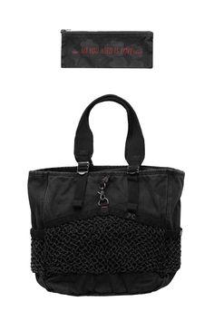 Porter Classic - CANVAS NET TOTE BAG - BLACK Porter Classic, Black Tote Bag, Gym Bag, Canvas, Bags, Outfits, Fashion, Tela, Handbags