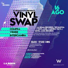 W RECORDS | VINYL SWAP La Roma Records, Vinil Azul Revancha DF, Mundo Vinilo y Ultra Azul Records  #WRECORDS #WMUSIC http://whotels.ht/1J58Kw6