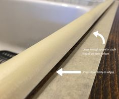 Have you ever wondered how contractors get those perfectly straight caulk lines? If you're putting off re-caulking your bathtub or countertops, there is a really simple trick to getting those professional looking caulk lines. Good Night Sleep, Doors, Blog, Diy, Design, Bricolage, Blogging, Do It Yourself