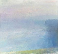Six Decades - Wolf Kahn; Deer Isle - Fog Closing In, 1968, Oil on canvas, 66 x 72 inches, 167.6 x 182.9 cm, A/Y#21148