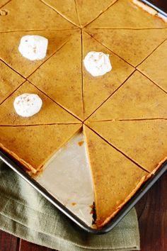 Pumpkin Slab Pie   www.thekitchenismyplayground.com