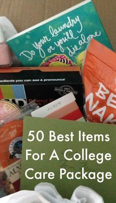 50 ideas for fun college care packages, full of gifts that your college student will love. We asked college kids and here is what they told us to send. Gift Guide