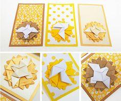 origami - estampas para Comunión hechas con papel plegado